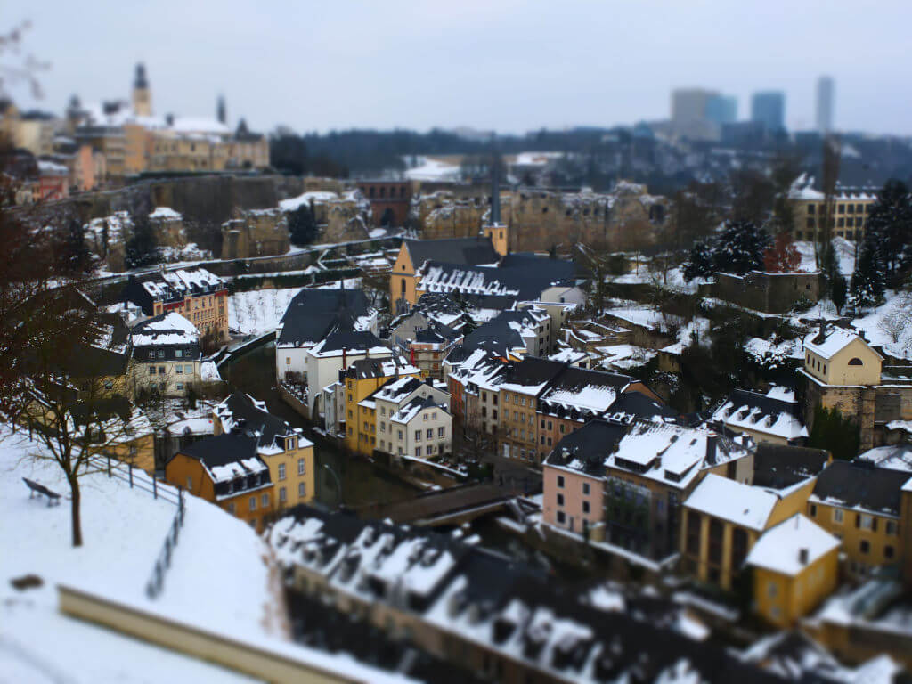 Luxembourg Miniature with snow