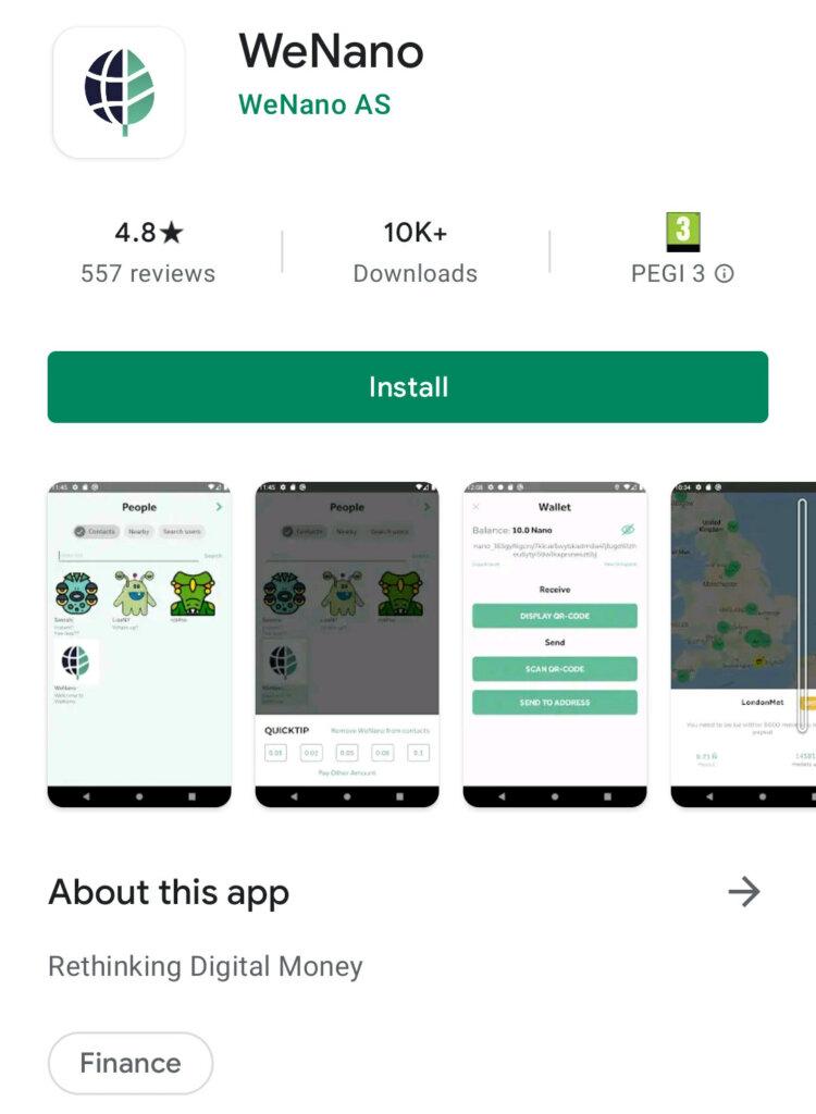 WeNano App on Google Play